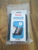 Hama Speicherkarten-Tasche für 18 SD-/MMC-Speicherkarten, Schwarz