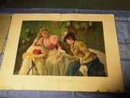 Kunstdruck Besuch der Freundin Karl Müller, Kunstbeilage, Die Gartenlaube 1899 - Zeuthen