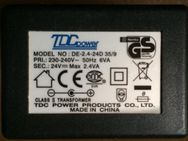 0139 AC-DC Adapter TDC Power DE-2.4-24 D 35 9 24V max2,4VA - Dortmund