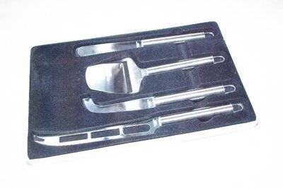 "4tlg. Käse-Schneide-Set 1 Hobel ; 3 versch. Messer aus ""Edelstahl"" - Andernach"