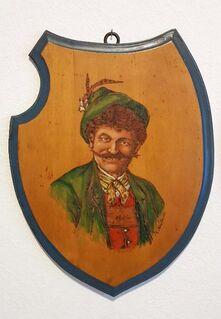 Bayern Tracht Holz Bild Schnitzerei Dirndl Trachtenhut Dekoration Kunst Handarbeit - Nürnberg