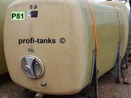 P81 gebrauchter 6.000 L Polyestertank GFK-Tank Speidel-Tank Lagertank Flüssigfuttertank Wassertank Molketank Melassetank Regenwassertank Rapsoeltank - Nordhorn