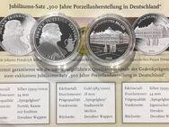 """2 Silbermedaillen """"300 Jahre Porzellanherstellung in Deutschland"""" - Mannheim"""