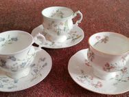 3 x Queen`s China Staffordsh. (English Fine Bone China) Tassen - Berlin