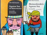 """2 originale, 1. Auflage TB der Reihe """"Agaton Sax, der Meisterdetektiv"""" - Niederfischbach"""