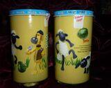 Bautzner KinderSenfglas Sammelglas Shaun das Schaf - Kohlkopf Gemüsefussball