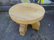 Eichenholzhocker - Tisch massiv / massiver Eichenholzbeistelltisch, Handarbeit - Zeuthen
