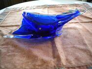 Bunt-Weiß-Glas-Prunk-Schale,Alt,ca. 45x18 cm - Linnich