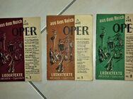 Opernführer, Liedertexte, aus dem Reich der OPER 1/2/3 v. 1954 ARCADIA - Leverkusen
