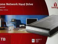 "♫ I-OMEGA NAS Festplatte 1TB 1000GB Gehäuse 3,5"" Zoll OVP ♫"