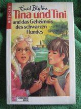 """Schönes Kinderbuch """"Tina und Tini und das Geheimnis des schwarzen Hundes"""" von Enid Blyton in sehr gutem Zustand; 118 Seiten; ISBN: 350507716X; 4,- €"""