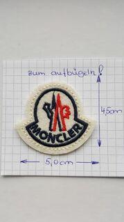 Moncler Patch Aufnäher Abzeichen Logo Mütze Jacke Abzeichen Rund Stepp 4,5 x 5,0 cm - Nienburg (Weser)