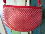 Hänge-Tasche in Rot-Gold Karomuster - Weichs