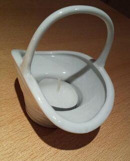 Zierliches Porzellan Körbchen als Teelichthalter oder Mini Blumenübertopf - Verden (Aller) Zentrum