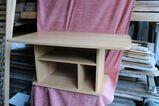 Hellbrauner Holz-Couchtisch, Tisch fürs Sofa