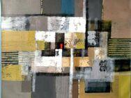 Großes neues BALI-Gemälde (100x110cm), Vielfarbige Komposition mit rotem Viereck!!!! - Berlin