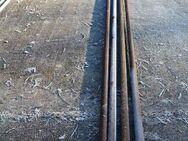 Stahlträger, Eisen, 4x Rundrohr; 353 bis 445cm lang, 33mm Durchmesser - Bad Belzig