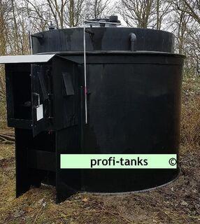 P95 gebrauchter 10.000L Polyethylen PEHD-Tank Kunststofftank Chemietank Industrietank Wassertank Flachbodentank mit Außenwanne doppelwandig lichtundurchlässig - Nordhorn