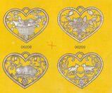 Nostalgie Vier Herzen der Vier Jahreszeiten  aus Zinn