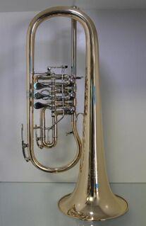 Melton Ideal Konzert Flügelhorn 124T - L. Egerländer Musikantenmodell aus Goldmessing. Neuware - Hagenburg