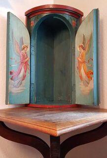 Eck Altar Barock Kruzifix Kreuz Engel Heilige Antik Haus Kapelle Bayern Alpen Seraphim - Nürnberg