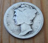USA ONE DIME 1917,1920 900er Silber