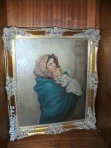 Ölbild auf Leinen, Mutter mit Kind