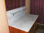 Jugendstil Waschtisch um 1910 / Waschtkommode mit Marmorplatte / Waschtisch Holz - Zeuthen
