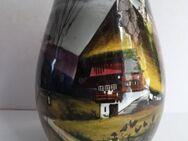 Seltene alte Vase Nachtmotiv SMF SCHRAMBERG Nachtlandschaft Handbemalt Motiv Schwarzwaldhaus - Königsbach-Stein