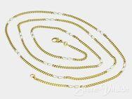 333er Gold, Paznerkette Gelb mit Weißgoldelementen (494) - Leverkusen