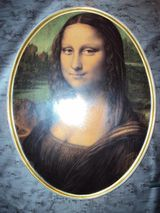 Mona Lisa Porzellan Wandteller made in West Germany München 1975 Gerold Porzellan Tettau Bavaria Breite 24,5cm Höhe 32,0cm HOCHWERTIGER HAUSRAT