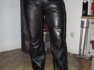 tolle Lederhose MODEKA Gr.33 schwarz Glattleder - Top - Freizeit - Sickte