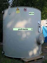GP114 gebrauchter 16.300 L PP-H-Tank chemikalienbeständiger Lagertank Rapsoeltank Gülletank Flüssigfuttertank Sickersafttank Zisterne Wassertank