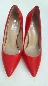 Pumps/High Heels mit 10 cm Absatz, rot, Gr. 38
