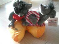 """Mäuse-Paar """"I love you"""" auf Käse, Plüschtiere, Stofftiere, Kuscheltiere, Sweety-Toys, neu, noch mit Etikett, 2,50 - Flensburg"""
