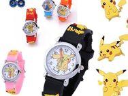 Mädchen Wasserdichte Uhr Pokemon Pikachu Cartoon 3D Armbanduhr,rosa - Reinheim