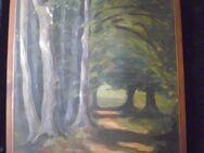 """Gemälde Öl auf Leinwand von Oskar Stark """"Im Habichtswald"""" 1933 - Dortmund Wambel"""