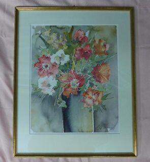 Blumenbild (Aquarell als Kunstdruck) - Moers