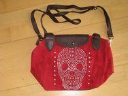 Handtasche, Neu, mit Strass-Steinen, rot/braun, PVC - Sehnde