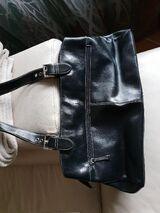 Damen lederhandtasche schwarz