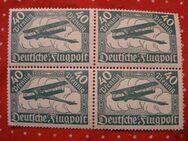 DR 4er Block,Flugpostmarken 1919,MiNr 112,  Lot 253