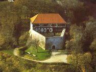 Postkarte Wäscherschloss Wäscherburg Paul Kaisser Luftbild farbe - Spraitbach