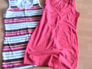 2 Longshirts 1x gestreift,1x pink und 2 Trägershirts in Türkis Gr. S - Hameln
