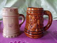 Zwei alte Bierkrüge Material Ton? Keramik?