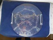 Glas Platte mit Griffen Käseplatte Kuchenteller Servierplatte 5,- - Flensburg