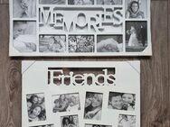 "2.große Bilderrahmen ""Friends & Memories"" Weiss **Neuware** O.V.P. 73/38cm und 61/46cm - Köln"
