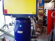 gebrauchter BLITZ Kompressor komplett auf Grundplatte geschraubt
