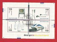 "Briefmarkenblock Design in Deutschland 1999 Stempel ""Erstausgabe"" - Backnang"