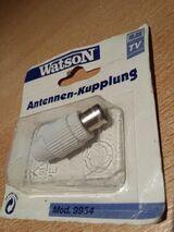 """Watson Antenne Koax - Kupplung Buchse Selbstmontage """" NEU """""""