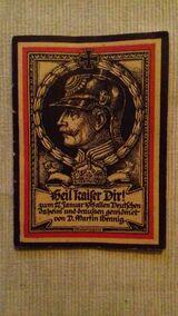 Patriotisches Heft Heil Kaiser dir zum 27Januar 1915